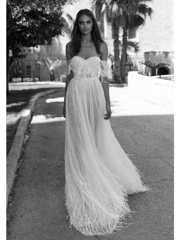 Fully Beaded Tulle Wedding Dress