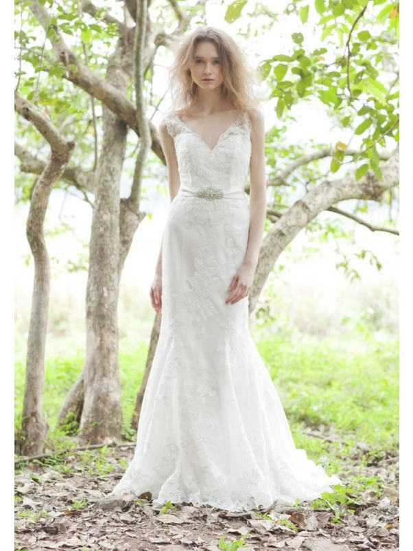 Beaded Wedding Dress With Low Back