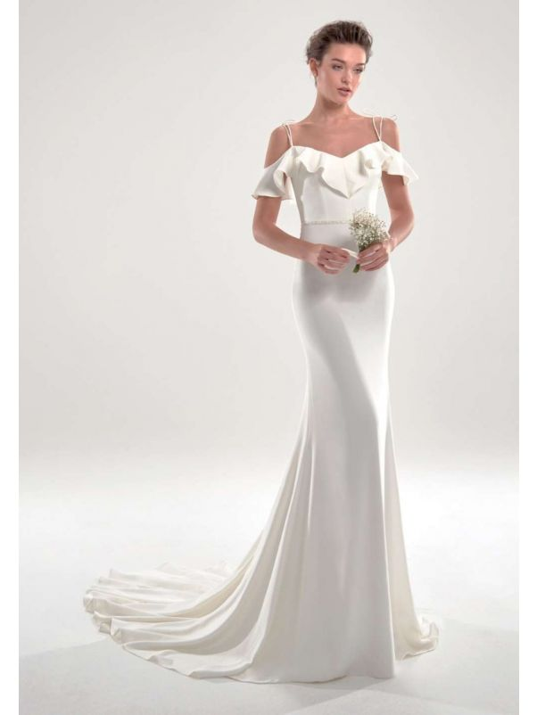 Minimalist Crepe Mermaid Wedding Dress