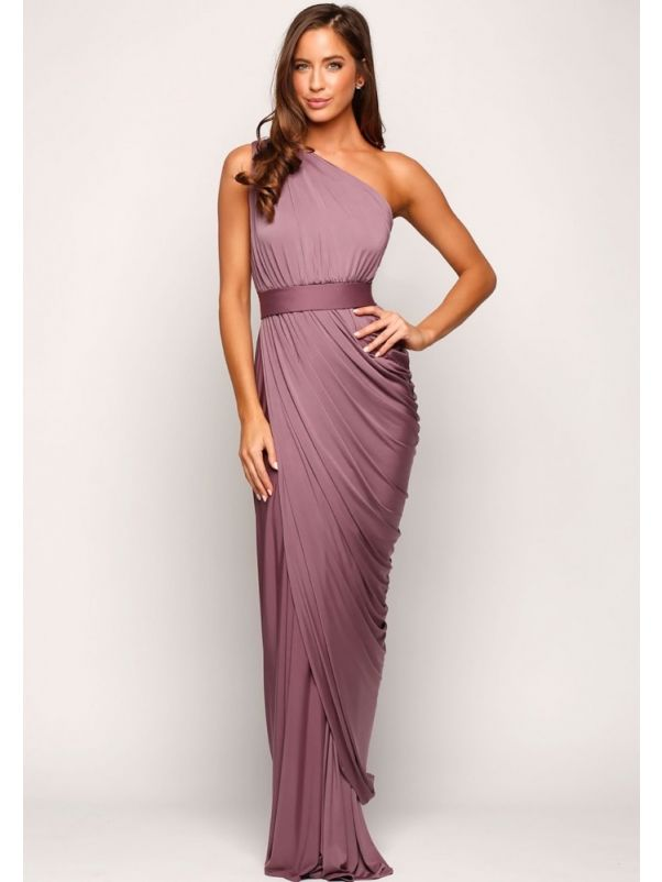 One-Shoulder Draped Bridesmaid Dress