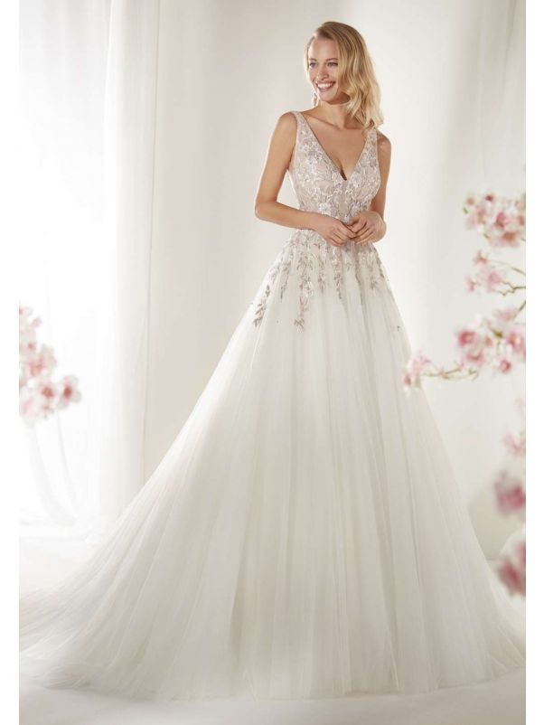 Embellished Fairytale A-Line Tulle Wedding Dress
