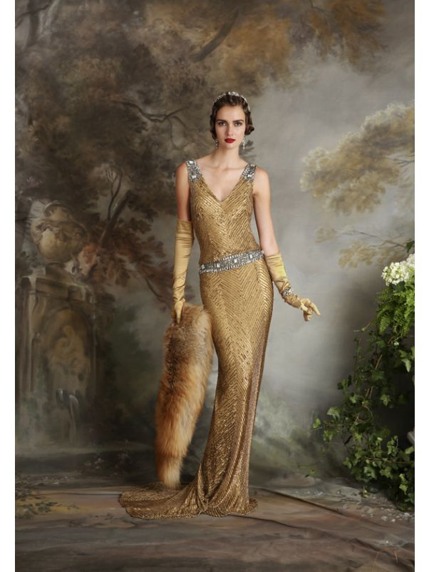 Embellished Sequined Gown
