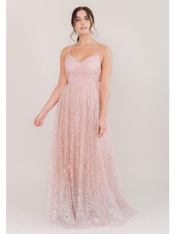 Beaded Tulle Bridesmaid Dress