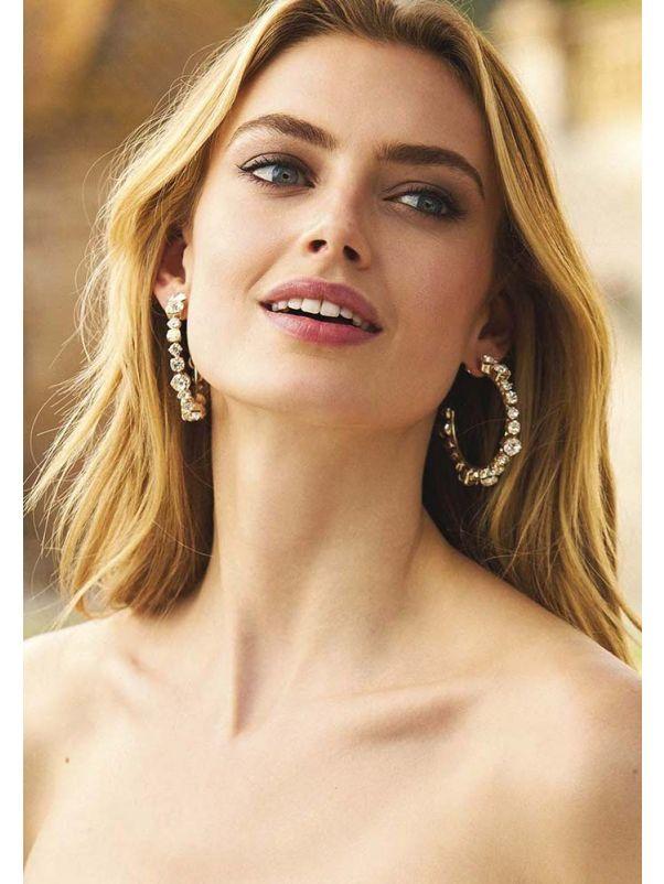 Diamente Bridal Hoop Earrings