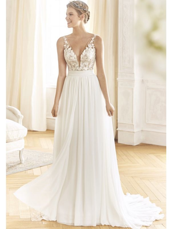 Beaded Chiffon Wedding Dress