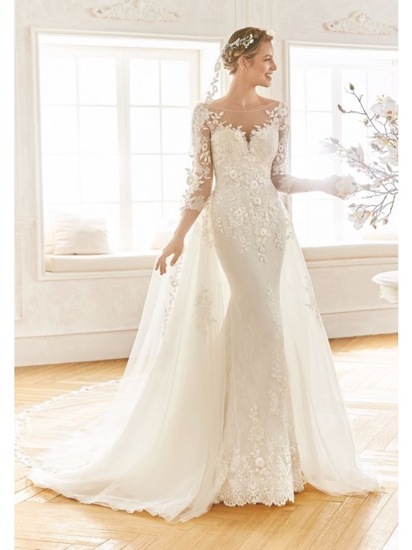 Embroidered 2-in-1 Wedding Dress