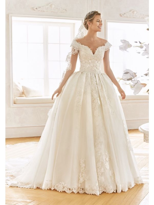 Beaded Princess Wedding Dress