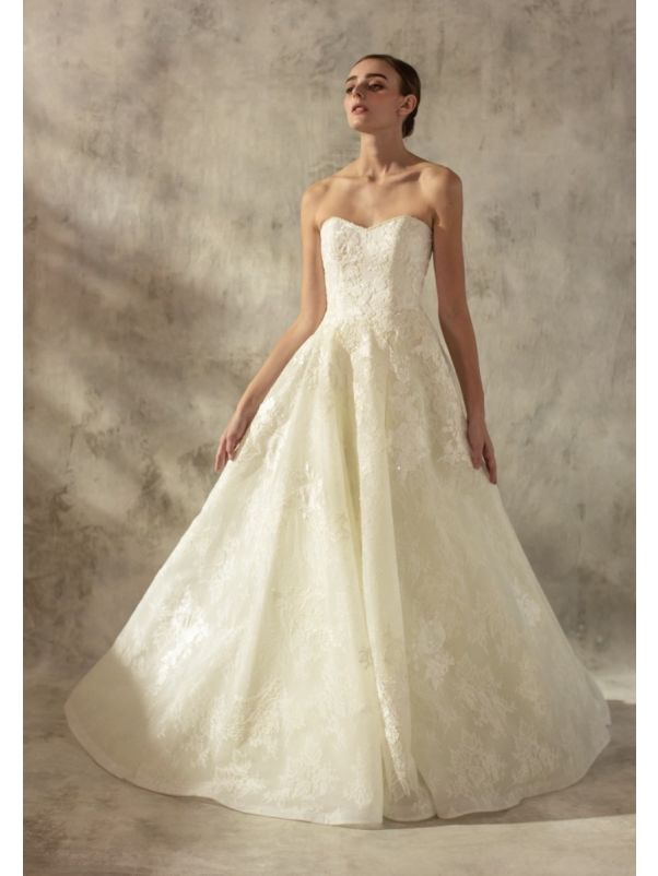 Beaded Lace Ball Gown