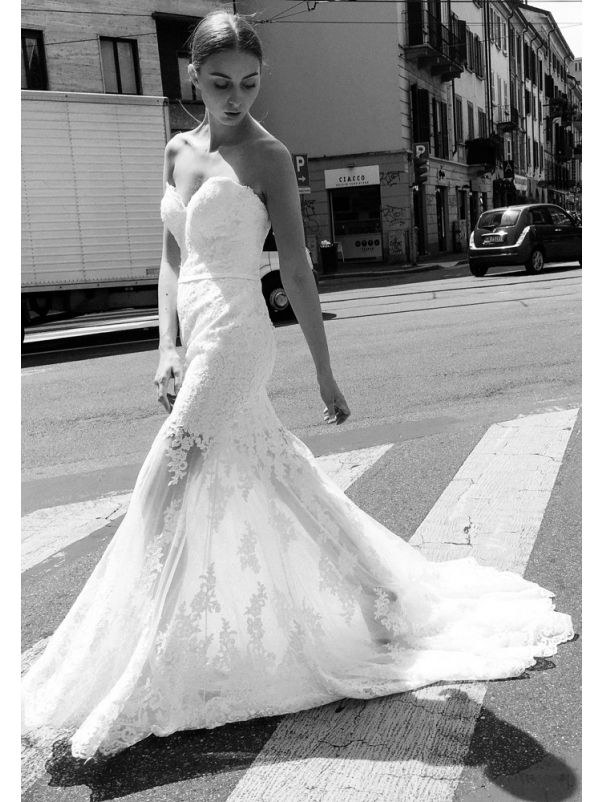 Lace Wedding Dress With Illusion Skirt