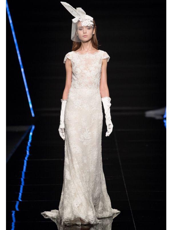 Lace Wedding Dress With Keyhole Back