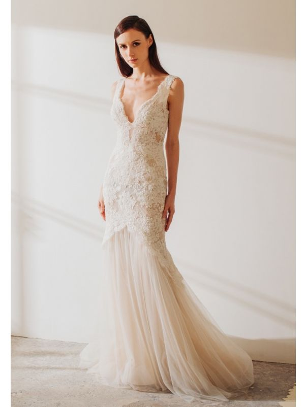 Lace Wedding Dress With Low Back