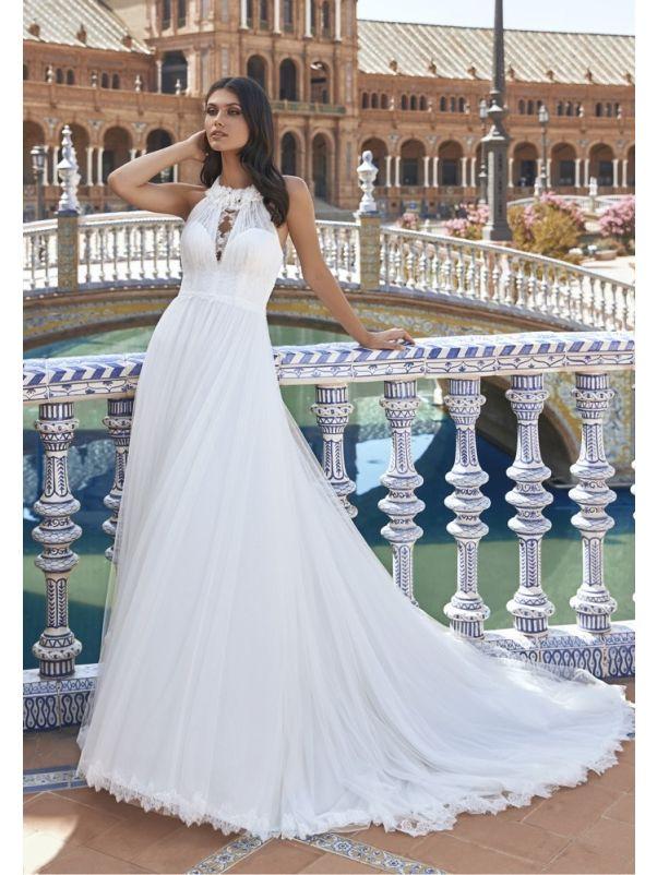 Flowy Soft Tulle Wedding Dress