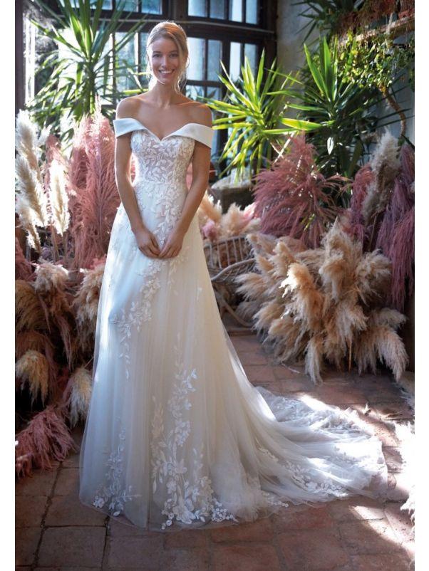 Floral Petals Wedding Dress