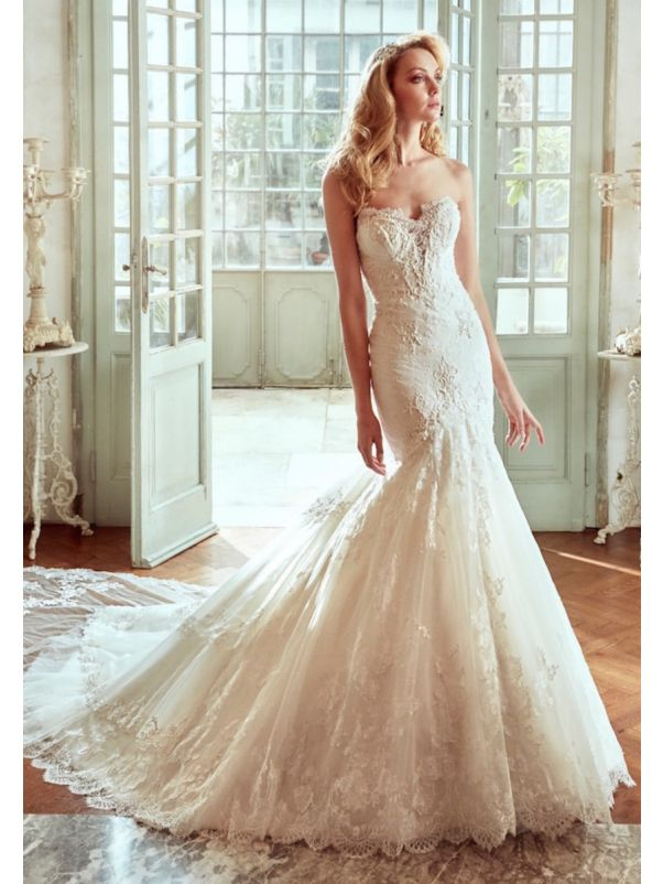 Mermaid Wedding Dress With Wonderful Train