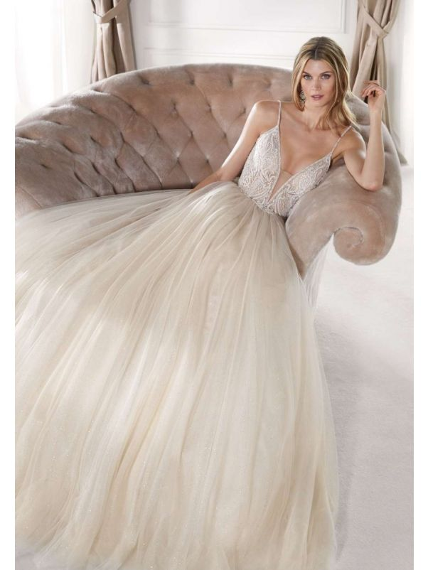 Embellished Fairytale Champagne Ball Gown