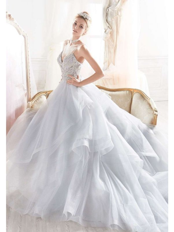 Embellished Fairytale Tiered Princess Ball Gown