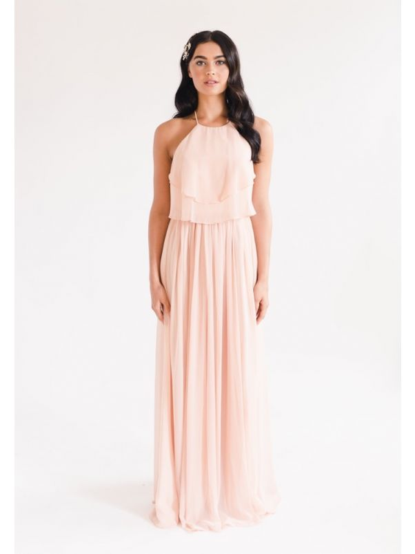 Ruffles Chiffon Bridesmaid Dress