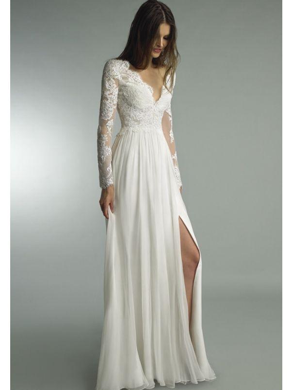 High Slit Wedding Gown