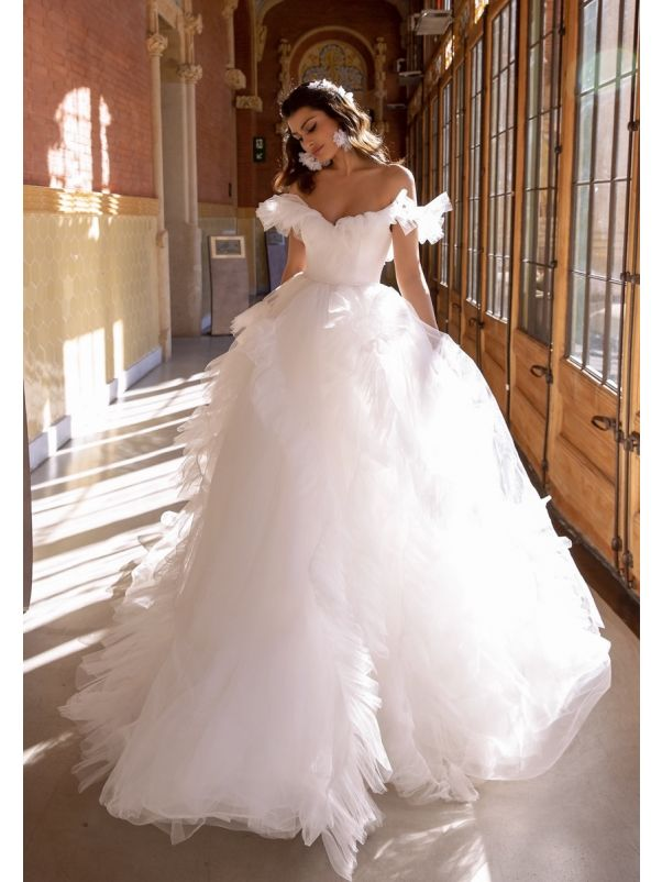 Romantic Ruffle Ball Gown