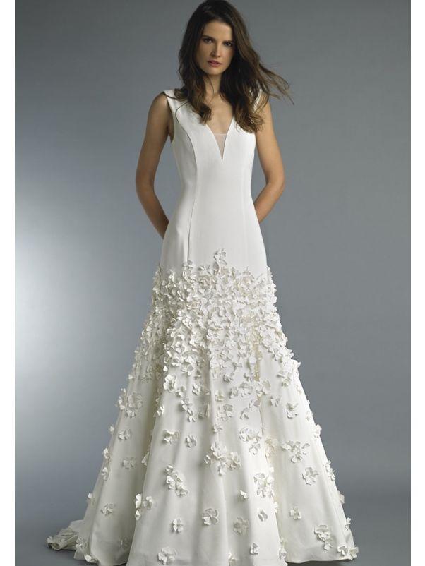 3D Flowers Wedding Dress