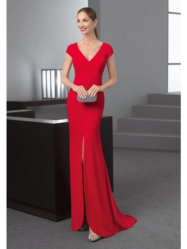 Minimalist Crepe Slit Gown