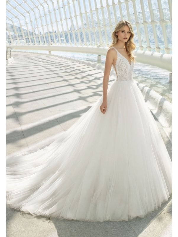 Beaded Tulle Ball Gown