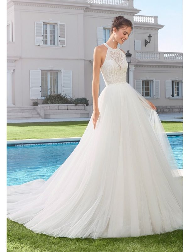 Beaded Mermaid Wedding Dress With Overskirt