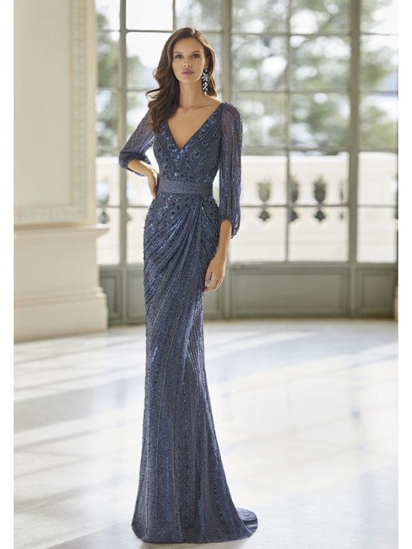Fully Beaded Evening Gown