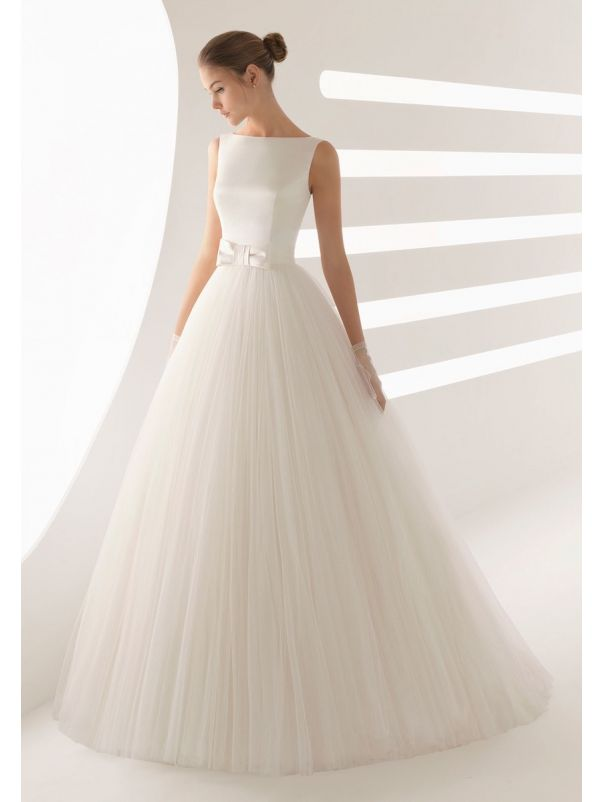 Minimalist Tulle Ball Gown