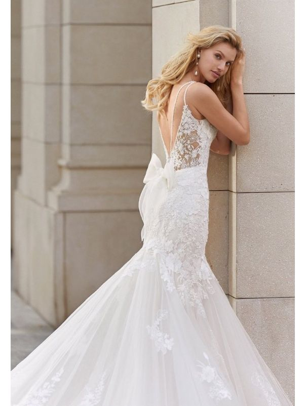 Floral Lace Mermaid Wedding Dress