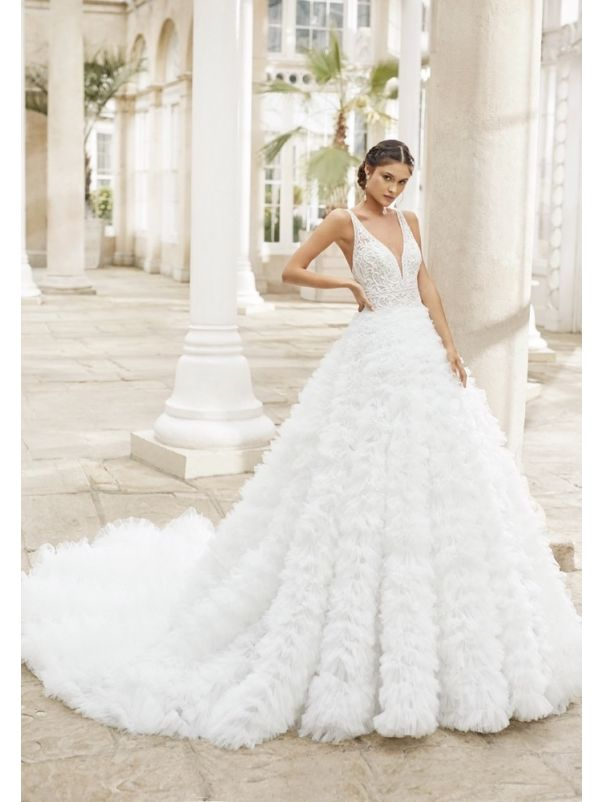 Ruffle Dream Wedding Dress