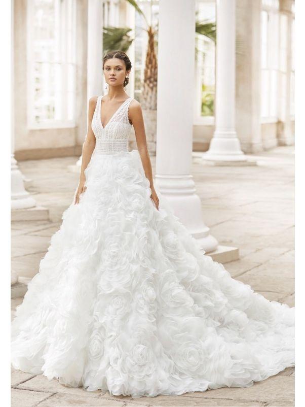 Rose Swirls Ball Gown