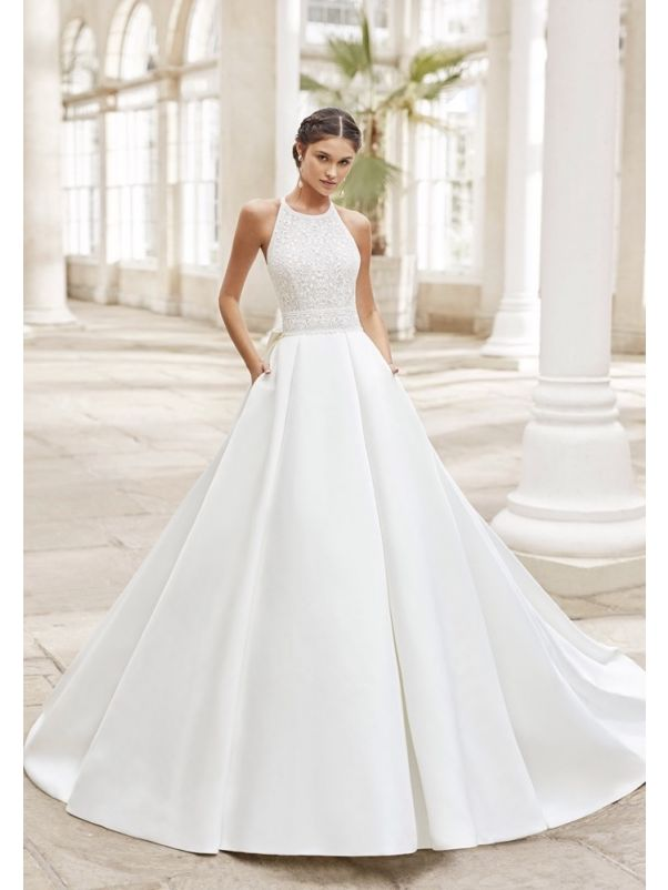 Wedding Dress With Big Bow Back
