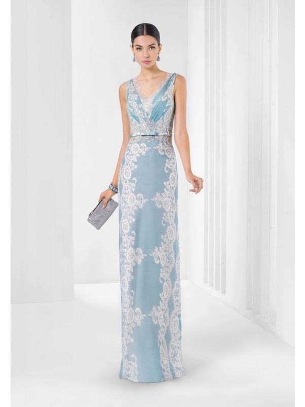 Beaded Lace Chiffon Evening Gown
