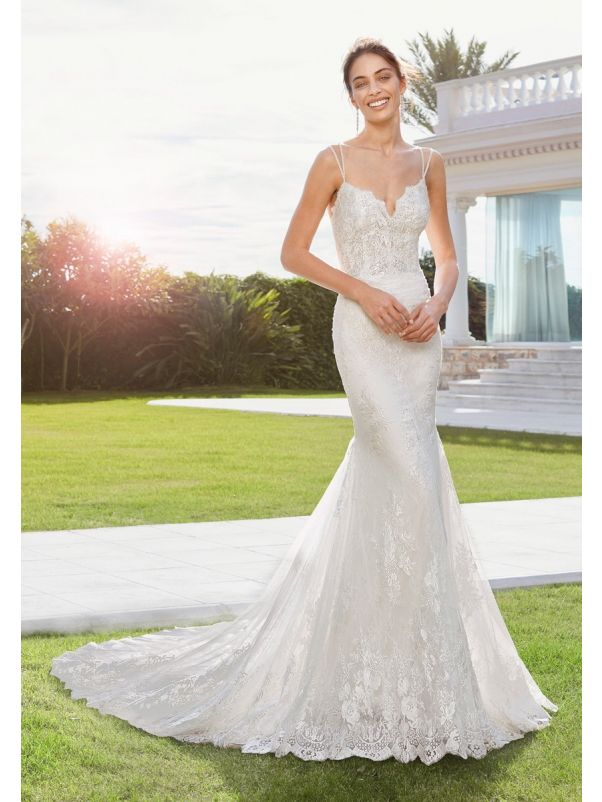 Lace Wedding Dress With Straps