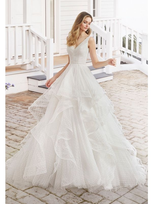Polka Dot Ruffle Wedding Dress