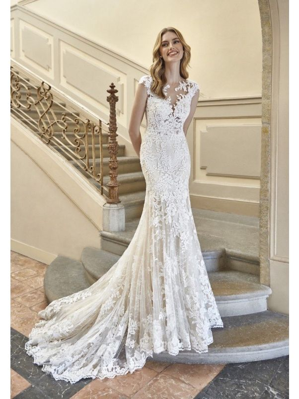 Floral Lace Wedding Gown