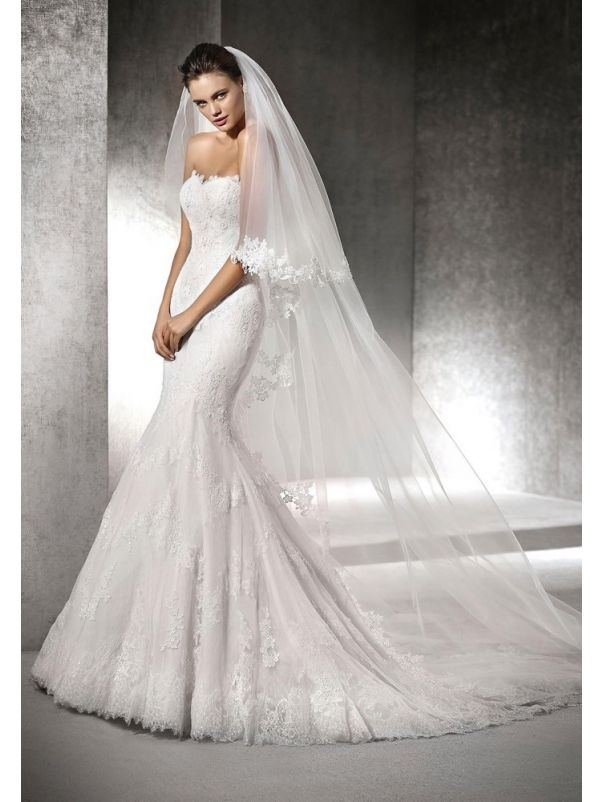 Embroidered Lace Wedding Dress