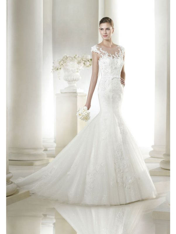 Mermaid Wedding Dress With Sheer Back