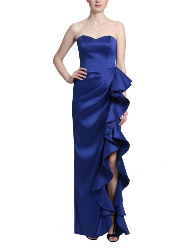 Mikado Evening Gown With Slit