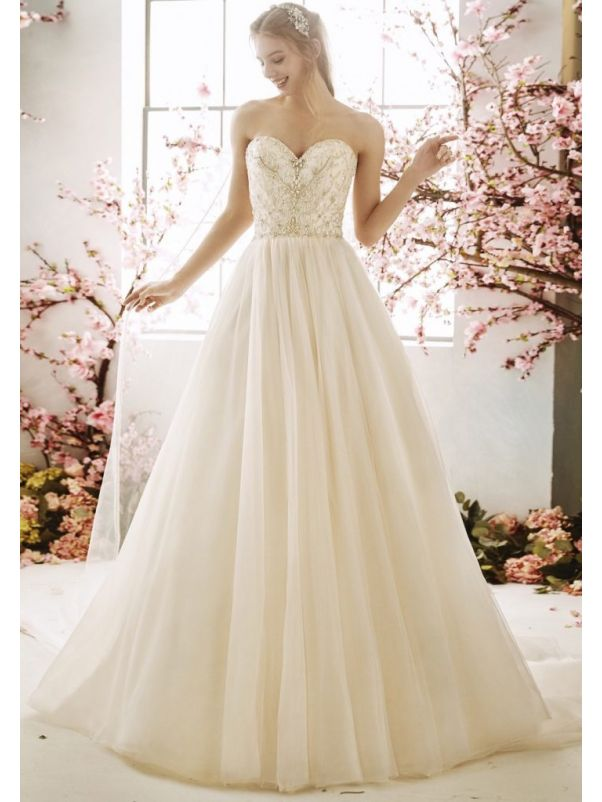 Embellished Tulle Wedding Dress