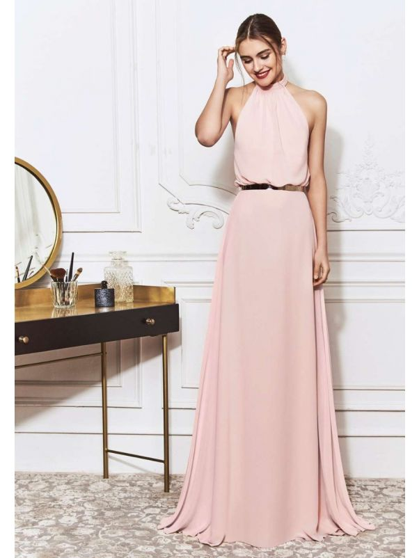 Ethereal Pink Chiffon Gown
