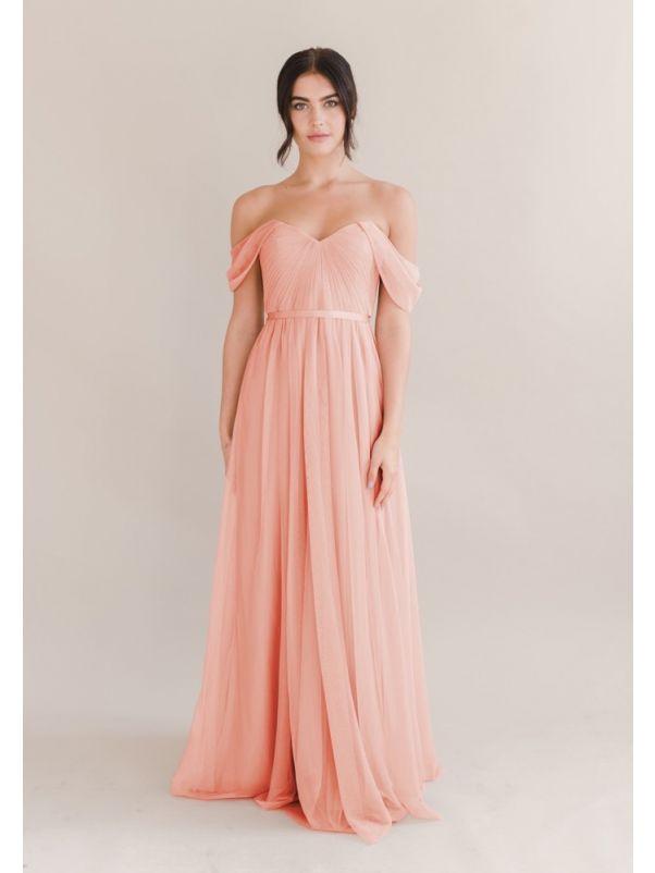 Draped Tulle Bridesmaid Dress