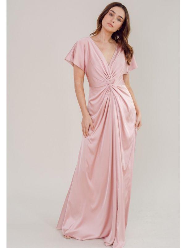 Draped Satin Bridesmaid Dress