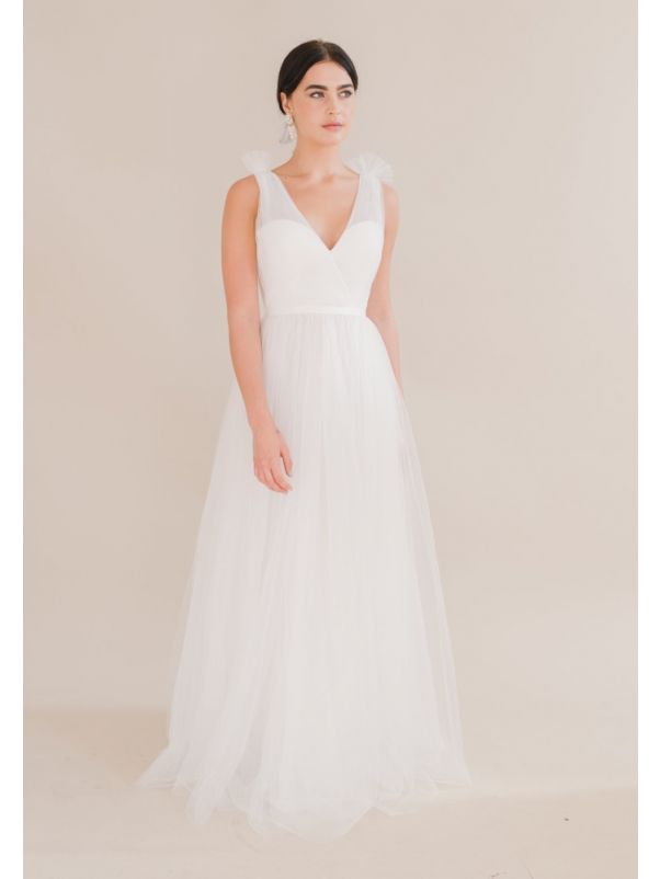 Tulle Wedding Dress With Low Back