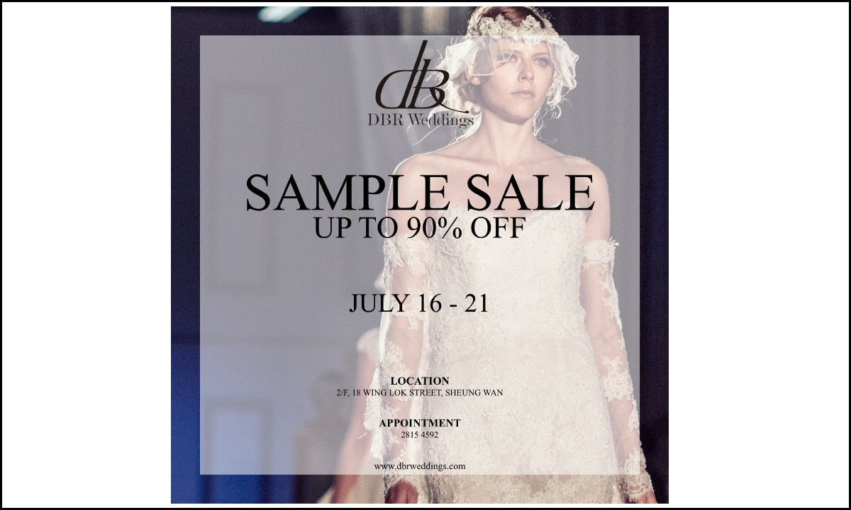 Sample Sale | Up to 90% Off | July 16 - 21