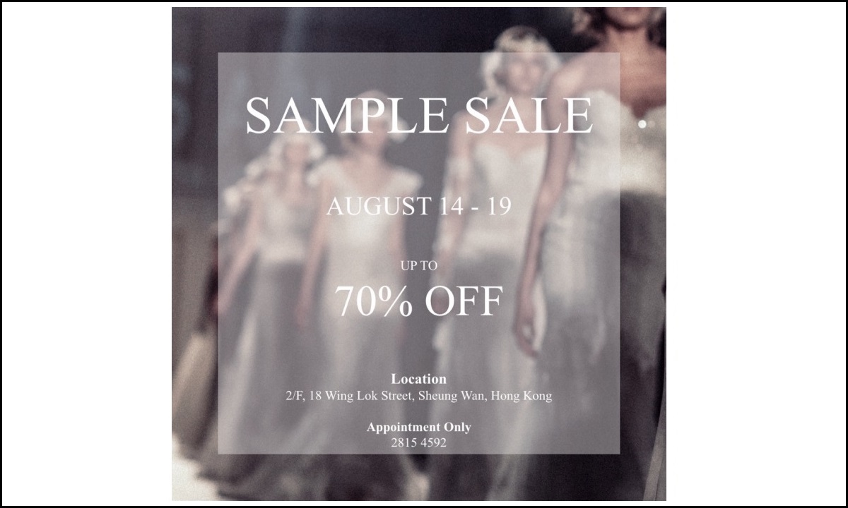 Sample Sale - Up to 70% Off